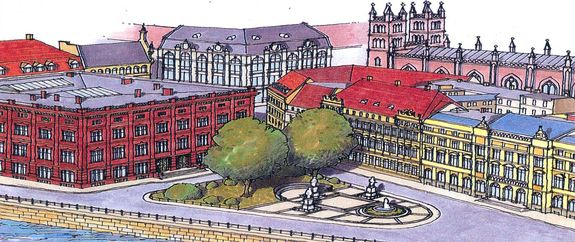Schinkelplatz um 1900